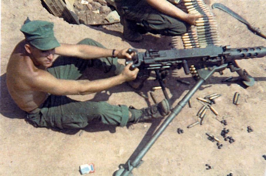 50 Caliber Machine Gun Wounds Firing a 50 Caliber Machine